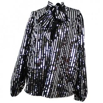 Rixo Black Glitter Top for Women