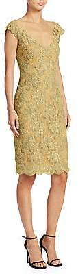 Reem Acra Women's Metallic-Lace Sheath Dress