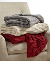 Hotel Collection Waffle Weave Throw