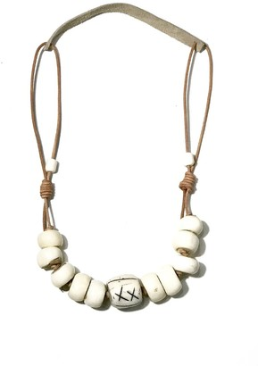 Twine & Twig Cord Classic Signature Necklace in White/Taupe