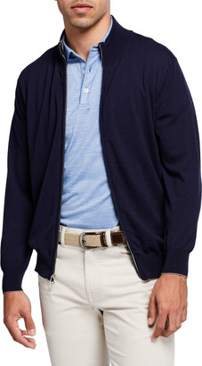 Peter Millar Men's Excursionist Flex Full-Zip Sweater