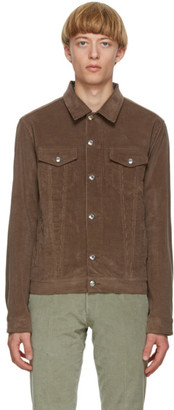 Paul Smith Brown Corduroy Tailored Work Blazer