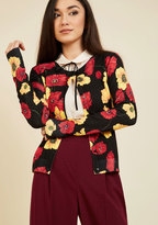 Enlivened Look Floral Cardigan in S