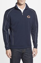 Cutter & Buck Men's Big & Tall 'Chicago Bears - Edge' Drytec Moisture Wicking Half Zip Pullover