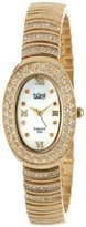 Burgi Women's BUR070YG Diamond Oval Quartz Bracelet Watch