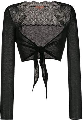 Ermanno Scervino embroidered wrap knitted top