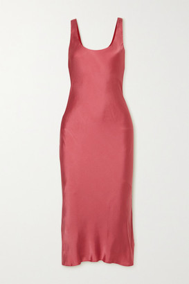 CAMI NYC The Evelyn Open-back Silk-blend Charmeuse Midi Dress - Coral