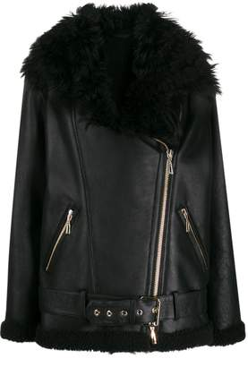 Amen faux fur aviator jacket