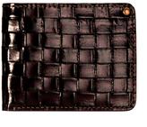 Basketweave Leather Bifold Wallet