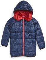 Little Marc Jacobs Toddler Girl's Reversible Leopard Print Puffer Jacket