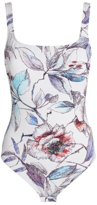 Gottex Floral Print Swimsuit