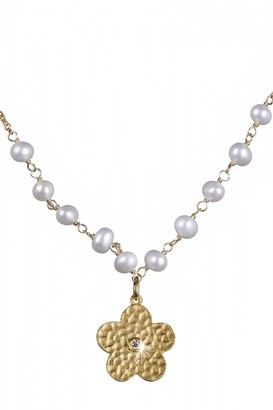 Shimla Jewellery Flower Necklace With Pearls and Cz JEWEL SH637