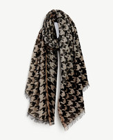 Ann Taylor Shimmer Houndstooth Scarf