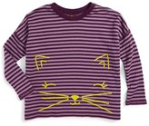Tea Collection Toddler Girl's Fuwafuwa Double Knit Top