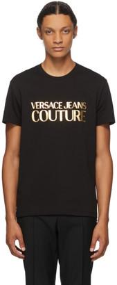 Versace Black Gold Foil Logo T-Shirt