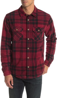 Valor Collective Bismark Plaid Regular Fit Faux Fur Lined Shirt