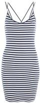 Topshop Stripe Strap Bodycon Mini Dress
