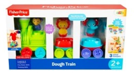 Fisher-Price Train Dough with 3 Pots of Dough and 3 Animal Stamps Set