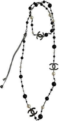 Chanel Black Pearls Long necklaces