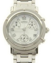 Hermes Clipper CL1.310 Stainless Steel Chrono Quartz 30mm Mens Watch