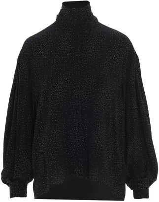 IRO Gretina Turtleneck Dotted Blouse