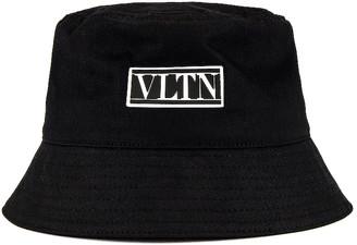 Valentino Bucket Hat in Black & White | FWRD
