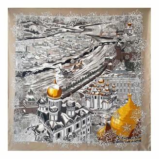 Ylgg Mulberry silk scarf ~ Moscow silk twill large square scarf shawl women's twill 100% mulberry silk 90 * 90cm (35.4 * 35.4in)