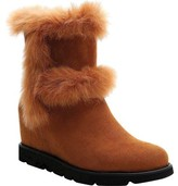 Ann Creek Clarens Fur Trim Wedge Bootie (Women's)