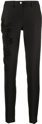 Philipp Plein Beaded-Lace Slim-Fit Cigarette Trousers