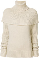 Agnona cape shoulder sweater - women - Polyamide/Camel Hair/Wool - 40