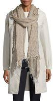 Eileen Fisher Crinkle Linen Open Weave Scarf