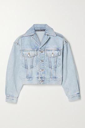 Alexander Wang Cropped Denim Jacket - Light blue