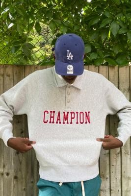 Champion UO Exclusive Coaches Sweatshirt - Grey L at Urban Outfitters