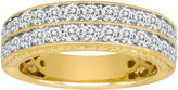 JCPenney MODERN BRIDE 1 CT. T.W. Certified Diamond 14K Yellow Gold Vintage-Style Wedding Band