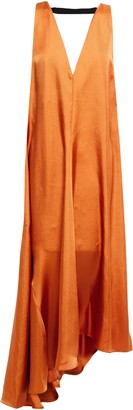 Tibi Fringed Metallic Crochet-knit Halterneck Mini Dress
