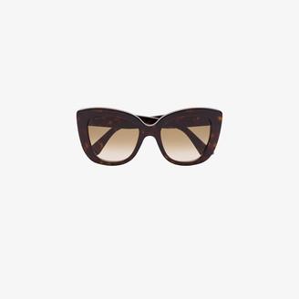 Gucci Brown Havana cat eye sunglasses