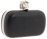 Alexander McQueen Box Clutch Bark Calf (Black) - Bags and Luggage