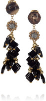 Marni Beaded horn clip earrings