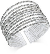 INC International Concepts Silver-Tone Multi-Row Crystal Cuff Bracelet, Only at Macy's