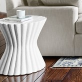 Williams-Sonoma Gesso Scallop Side Table