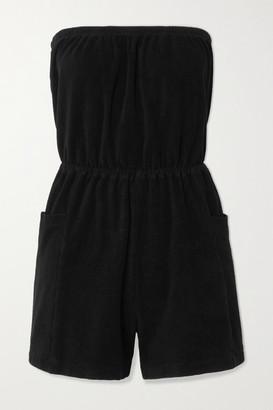 SUZIE KONDI Cotton-terry Playsuit - Black