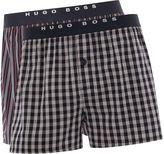 Hugo Boss 2 Pack Check And Stripe Boxer