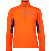 Salomon - Discovery Active Fleece-back Stretch-jersey Half-zip Mid-layer Ski Top