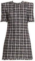 Balmain Tweed 3-Button Mini Dress
