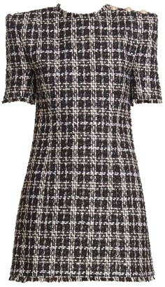Balmain Tweed 3-Button Mini Dress