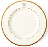 Pickard White Script Monogram Dessert Plate
