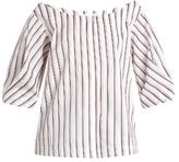 Isa Arfen Bunting Stripe button-down cotton top