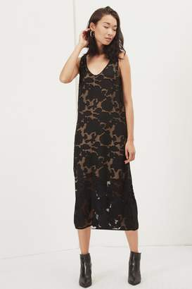Great Plains Flora Mesh Midi Sleeveless Dress