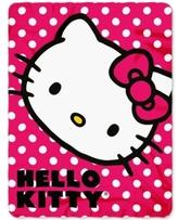 """Hello Kitty Sanrio 45"""" x 60"""" Fleece Throw"""