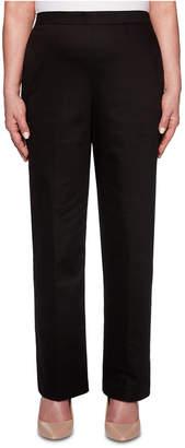Alfred Dunner Petite Sateen Pull-On Street Smart Pants